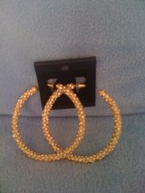 REDUCED!!!New,Sexy ,Gold & Diamonds Hoops in Fort Polk, Louisiana